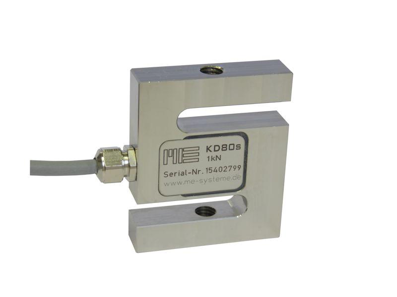 ME发布型号KD80s的S型力传感器,量程范围从500N-200KN
