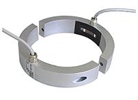应变传感器DAdx是将两个半圆环安装在圆柱上,测量圆柱的内紧力或者冲压或工具的预紧力