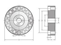大量程轮辐式力传感器的特点:优质合金钢材质;高精度;高稳定性