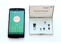 日前,韩国一家科技公司开发出了号称是全球首款适用于智能手机的微型温度传感器模块