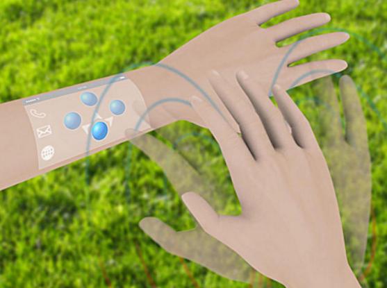 说到VR系统,如果使用手套一样的传感器肯定不方便。我们希望传感器能像皮肤一样贴在身上。