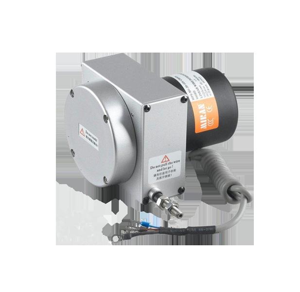 拉绳位移传感器我们也可以叫它拉绳传感器、拉绳电子尺、拉绳编码器。