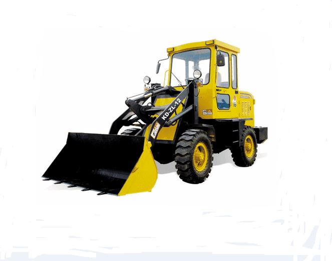 装载机/铲车是在底盘的前方铰装由动臂、连杆机构和装载斗组成的工作装置,在行进中铲装