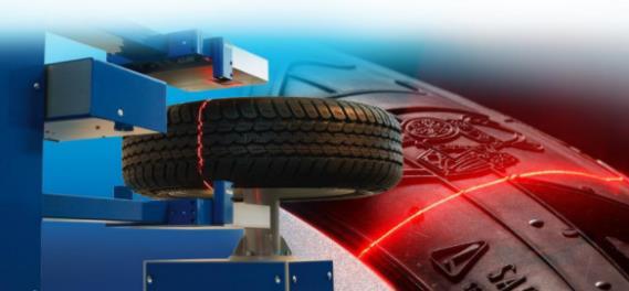 在橡胶和轮胎工业中大多的非接触式传感器用光学激光三角测量法来准确测量物体或表面。在这种技术中一束光从传感器发射到被测表面。它相当于一个自动光断面显微镜,有时作为一种结构化的光会被提及。