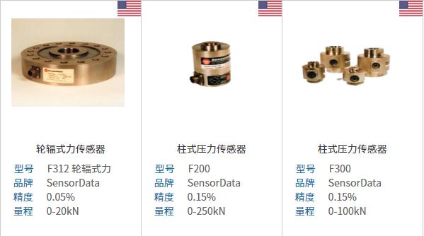 SensorData提供应变计测量产品,范围从力传感器测量轴向载荷,多轴力传感器,同时测量力和扭矩的多部件传感器,非旋转反作用力矩传感器以及旋转变压器和滑环联接扭矩传感器。